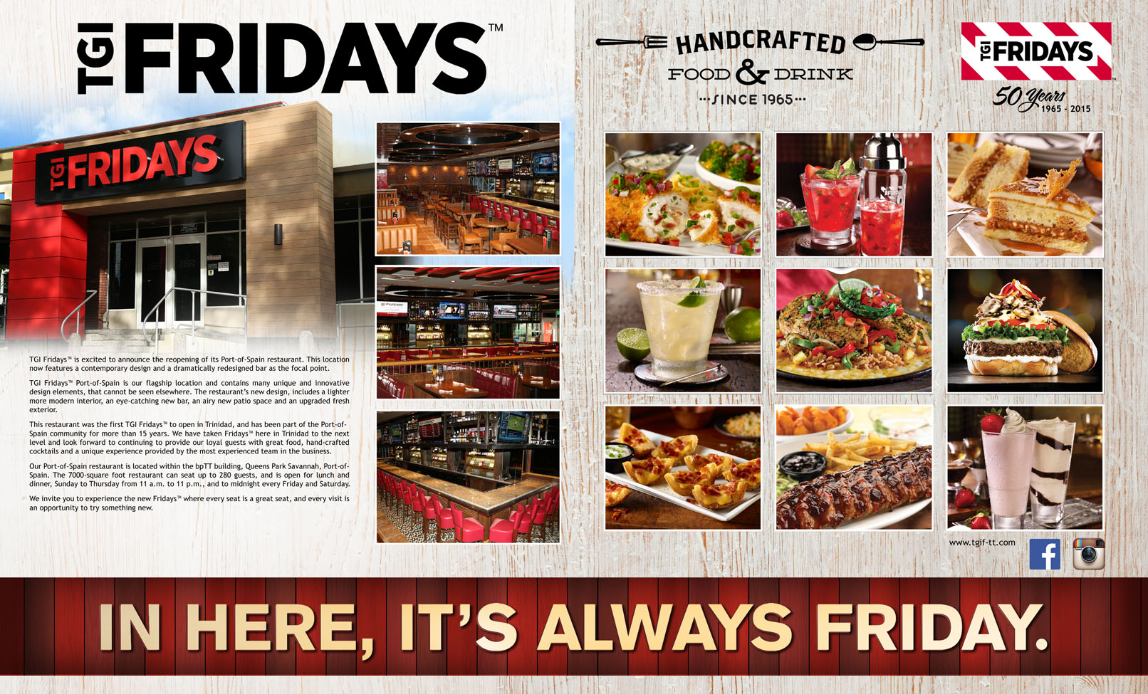 TGI Fridays has Announced the reopening