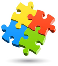 The puzzle pattern reflects the complexity of the autism spectrum.
